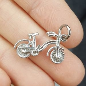 Jewelry - Vintage Sterling 3D bicycle charm